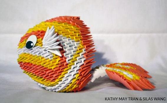3D Origami Folded Flat Pieces 1/32 A4 bigger quantities | Etsy | 350x567