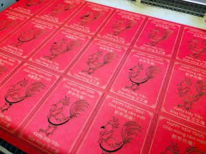 Laser-Cut Lunar New Year Rooster Cards